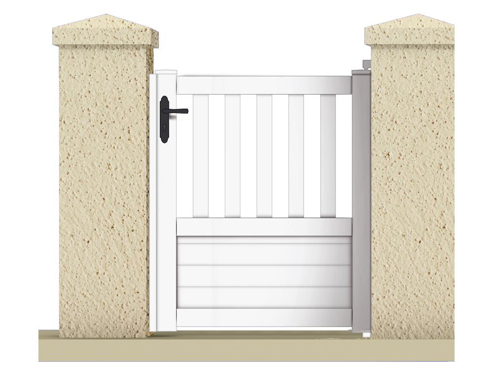 bien choisir un portillon pvc pas cher conseils et prix. Black Bedroom Furniture Sets. Home Design Ideas