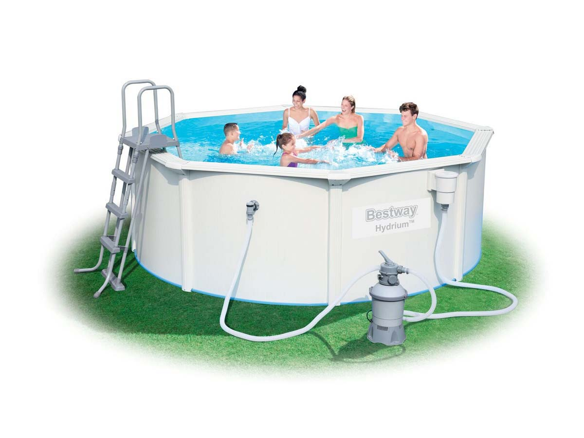 Piscine acier ronde steel wall pro x m 89278 for Calcul volume piscine ronde