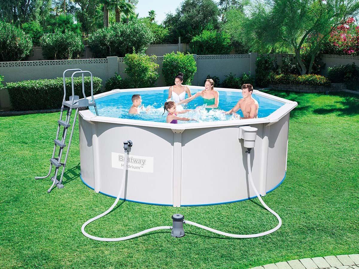 Piscine acier ronde steel wall pool x m 89281 for Liner piscine 3 60 1 20