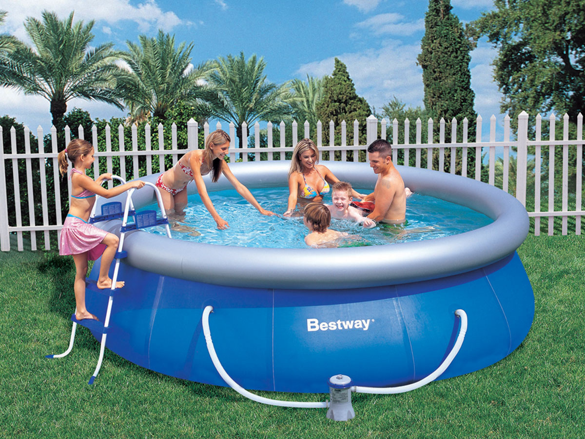 Piscine autoportante ronde x m 86838 for Calcul volume piscine ronde