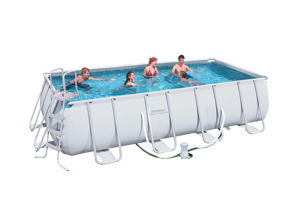 Piscine tubulaire rectangle steel pro frame x x 1 2 - Piscine tubulaire rectangle ...