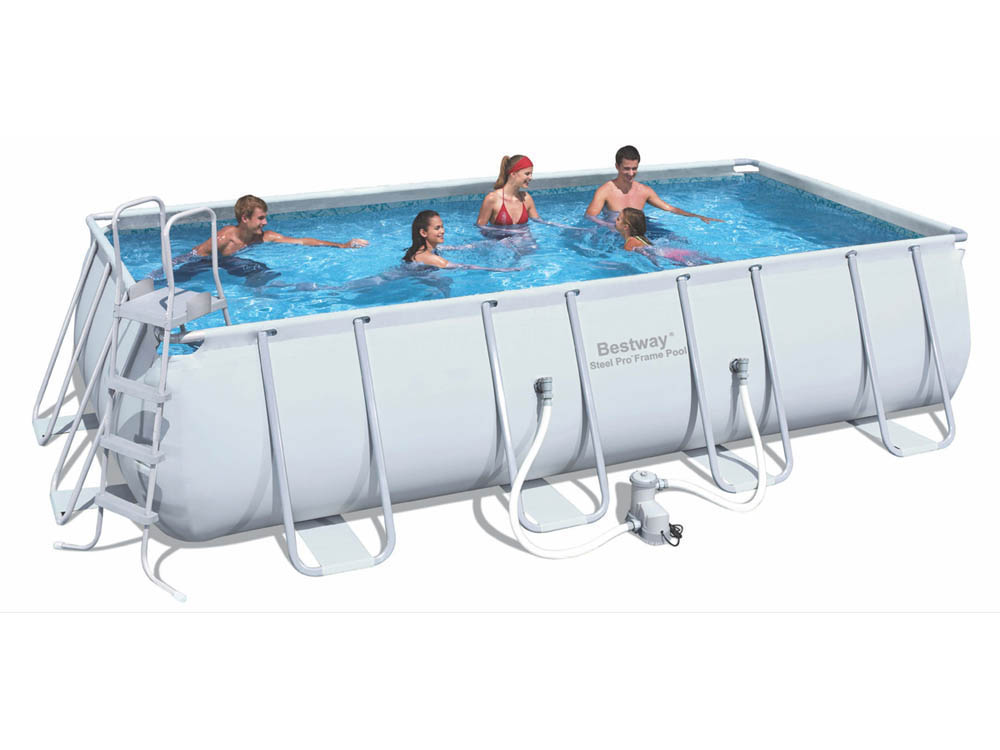 Piscine tubulaire rectangle steel pro frame x for Piscine hors sol ultra silver 4 57 x 2 74