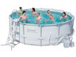 "Piscine tubulaire Ronde ""Power Steel Frame"" 4.27 m x 1.22 m + Bâche"