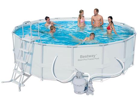 Kit piscine tubulaire Power - Ø 4.88 x 1.22 m- Filtre sable