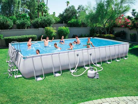 "Piscine tubulaire ""Power Steel Frame Pools"" - 9.56 x 4.88 x 1.32 m"