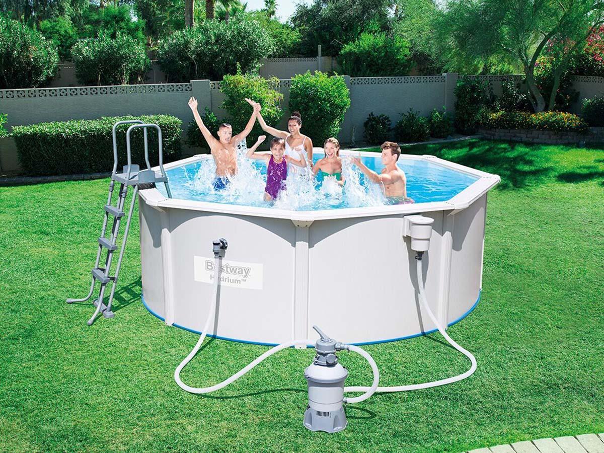 Piscine acier ronde hydrium x m 89270 for Liner piscine 3 60 1 20