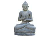 Statue Bouddha assis argumentation - hauteur 150 cm. - Pierre naturelle