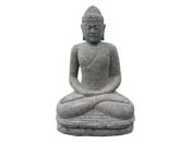 Statue Bouddha assis méditation - hauteur 100 cm. - Pierre naturelle