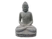 Statue Bouddha assis méditation - hauteur 150 cm. - Pierre naturelle