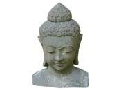 Statue buste Bouddha - hauteur 80 cm. - Pierre naturelle