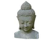 Statue buste Bouddha - hauteur 100 cm. - Pierre naturelle
