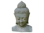 Statue buste Bouddha - hauteur 120 cm. - Pierre naturelle