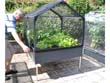 "Carré potager ""GrowCamp 30"" avec pieds - fond - support - irrigation - 120 x 120 x 150 cm."