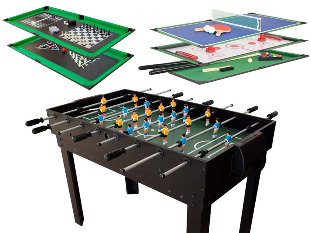Table multi jeux leo 65167 for Jeu des tables