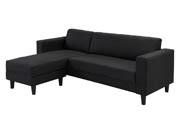 Canapé d'angle tissu réversible  Vigo  - Noir