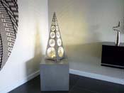 """Luminaire  """"Rond de soleil"""" - 72 x 25 x 25 cm - Gris"""