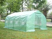 """Serre tunnel de jardin """"Althea 2"""" - vert - 12 m² - 4 x 3 x 2 m"""