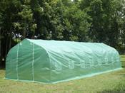 """Serre tunnel de jardin """"Althea 2"""" - vert - 24 m² - 8 x 3 x 2 m"""
