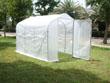 """Serre tunnel de jardin """"Mimosa 2"""" - blanc - 6 m² - 3 x 2 x 2 m"""