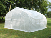 """Serre tunnel de jardin """"Mimosa 2"""" - blanc - 12 m² - 4 x 3 x 2 m"""