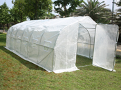 """Serre tunnel de jardin """"Mimosa 2"""" - blanc - 18 m² - 6 x 3 x 2 m"""