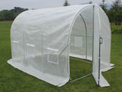 "Serre tunnel de jardin avec porte ""Mimosa"" - 220g/m2 - 6m² - 3 x 2 x 2 m"