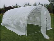 "Serre tunnel de jardin avec porte ""Mimosa"" - 220g/m2 - 18m² - 6 x 3 x 2 m"