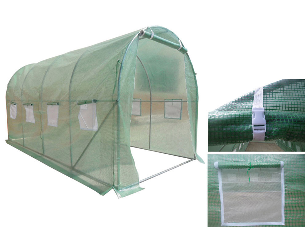 serre tunnel de jardin althea 9m 4 5 x 2 x 2 m 65427 67271. Black Bedroom Furniture Sets. Home Design Ideas