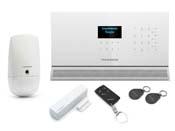 Pack alarme sans fil multizones - Centrale affichage LCD