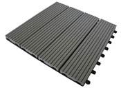 Lot de 11 dalles composite - 1 m² - Gris