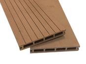 """Lot de 20 m² lames de terrasse brun composite + lambourdes + clips """"Caracas"""" (50 pièces) - 2.9 x 0.14 m"""
