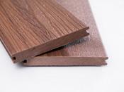 """Lot de 12 m² lame de terrasse brun composite + lambourdes + clips """"Santana"""""""