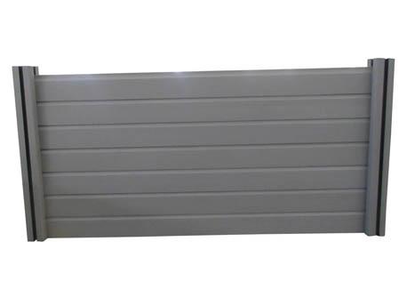 Panneaux droit en composite - L1.9 x H1.8 m - Gris
