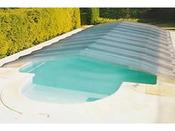 """Abri bas de piscine démontable """"climat-clair"""" - 7 x 3.50 m"""
