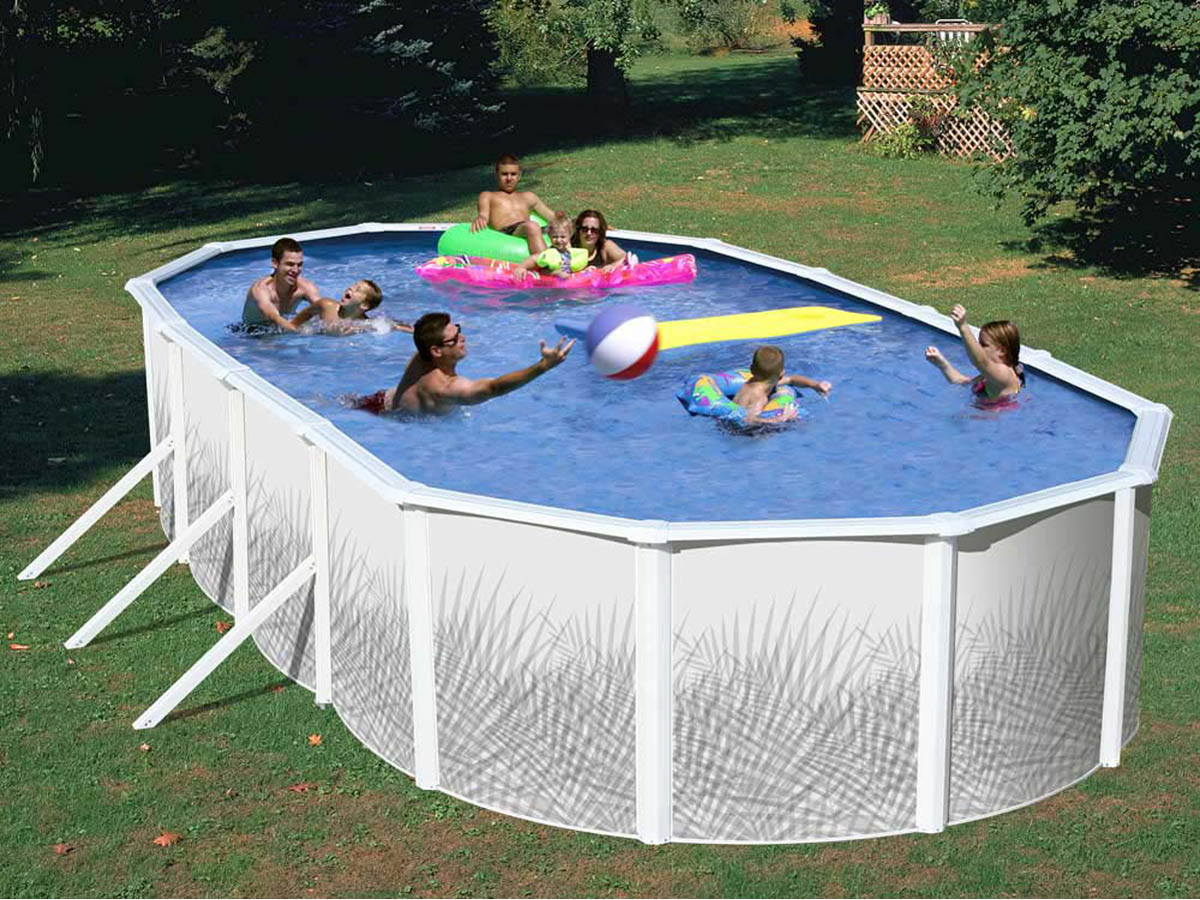 Piscine acier ovale x m x h groupe de for Piscine 66