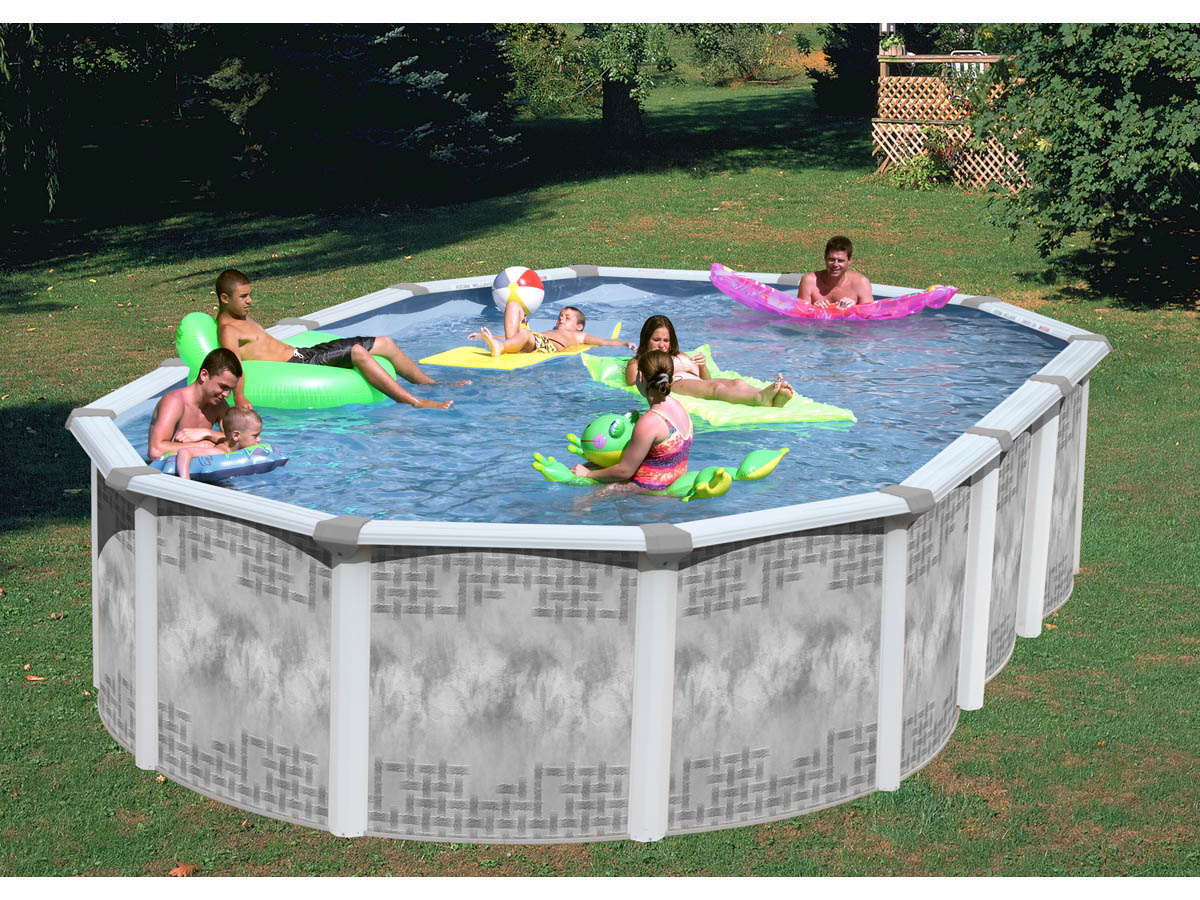 Piscine acier ovale x m x h groupe de for Protection platre piscine
