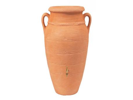 Kit Amphore Antik - Bac à plantes + collecteur + robinet - 250 L Terracotta