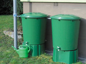 Kit 2 cuves de récupération d'eau de pluie