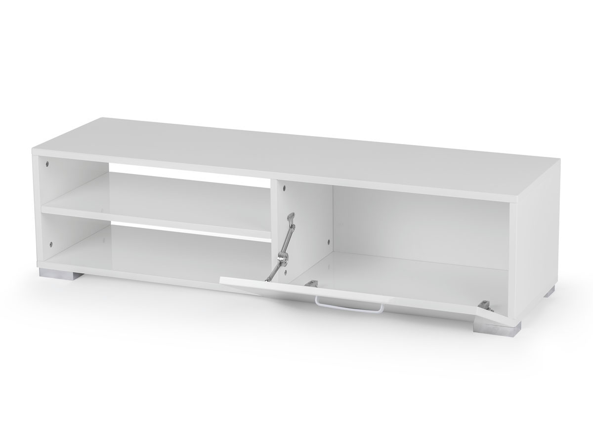 Meuble tv viola 130 x 40 x 35 5 cm blanc ebay for Habitat meuble tv