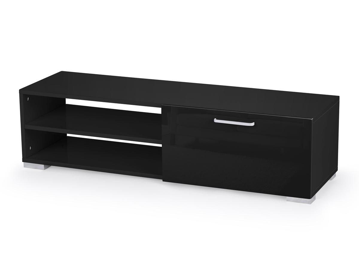 meuble tv viola 130 x 40 x 35 5 cm noir 69902 69905. Black Bedroom Furniture Sets. Home Design Ideas