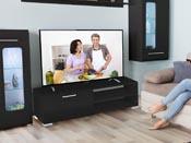 """Meuble TV """"Viola"""" - 130 x 40 x 35,5 cm - Noir"""