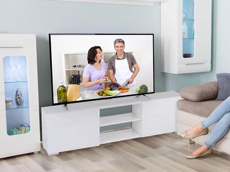 "Meuble TV ""Frida"" - 155 x 31 x 42,5 cm - Blanc"