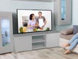 "Meuble TV ""Frida"" - 155 x 31 x 42,5 cm - Gris"