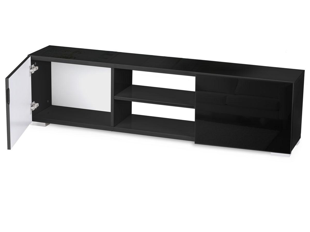 Meuble tv frida 155 x 31 x 42 5 cm noir ebay for Habitat meuble tv