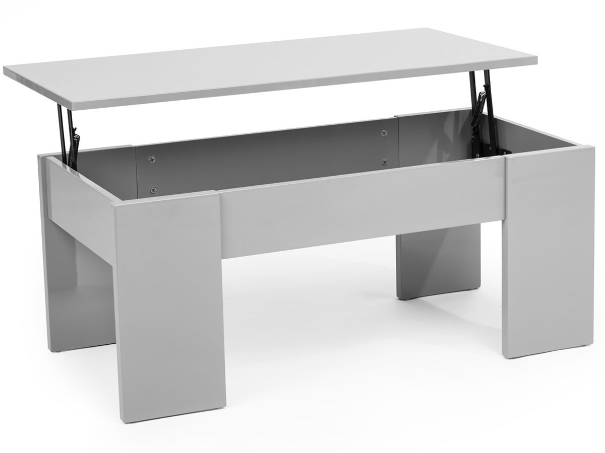 Table basse noir rue du commerce for Table basse relevable