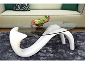 "Table basse ""Maya"" - 125 x 65 x 45 cm - Blanc"