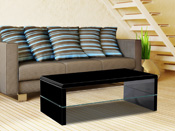 "Table basse ""Vicia"" - 110 x 60 x 40,5 cm - Noir"