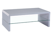 "Table basse ""Vicia"" - 110 x 60 x 40,5 cm - Gris"