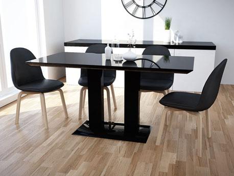 """Table repas """"Alina"""" en MDF laqué - Noir"""
