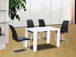 "Table repas ""Luna"" - 140 x 80 x 75 cm - Blanc laqué"